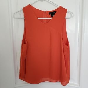 Trouve Red Sleeveless Top